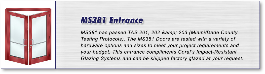 MS381 Entrance