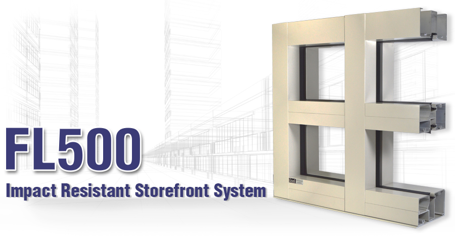 FL500 Impact-Resistant Storefront System
