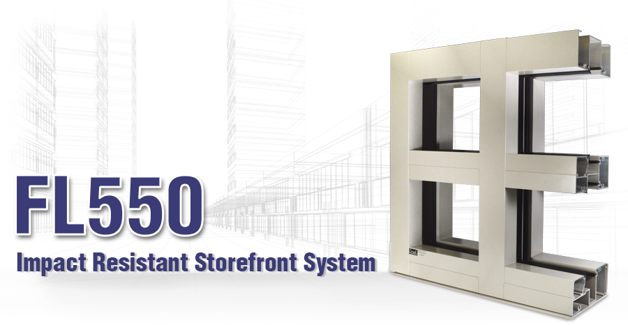 FL550 Impact-Resistant Storefront System