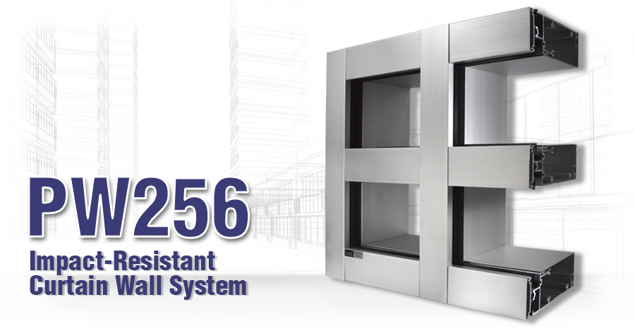 PW256 Impact-Resistant Curtain Wall System
