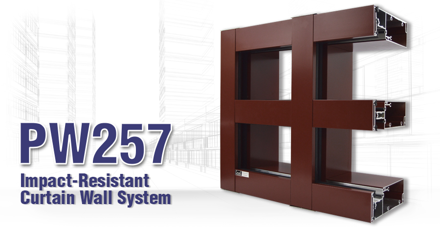 PW257 Impact-Resistant Curtain Wall System