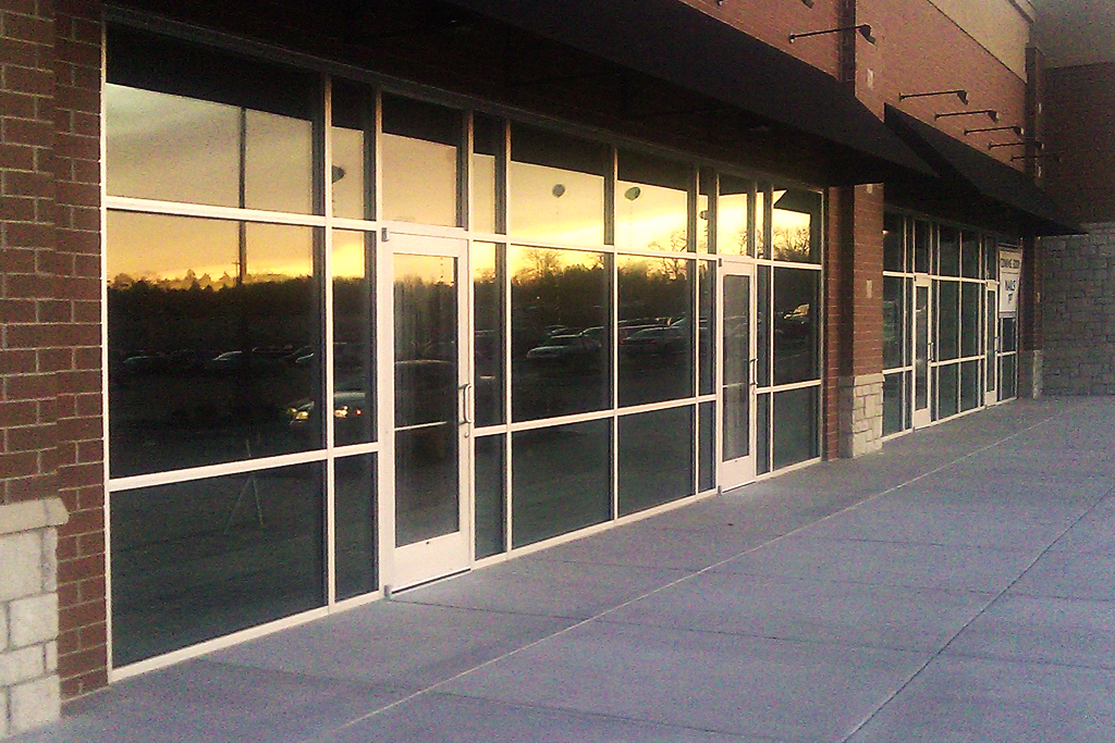 Insulated Glazing Storefront System : Thermal aluminum storefront systems glass coral